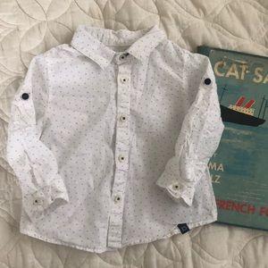 Zara Baby Boy polka dot button shirt 6-9 months